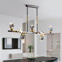 Pendant Lamps Modern Led Glass Ball Hanging Lamp Luminaire Suspendu Light Fixtures Chandelier Commercial Lighting Living Room Dining