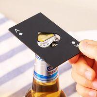 Cerveza de acero inoxidable abrelatas de la botella de la botella de la tarjeta de póquer de metal Forma de soda abridor de botellas de la barra de la fiesta Herramienta