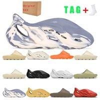 Kanye slides sandals Sandalet Sneakers Erkek Bayan Köpük Koşucu Çöl Kum Reçine Üçlü Siyah Turuncu Kemik Moda Eğitmenleri 36-45