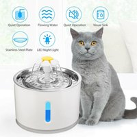 Cat Bowls & Feeders 2.4L Automatic Water Fountain LED Electric Mute Feeder USB Dog Pet Drinker Bowl Drinking Dispenser For