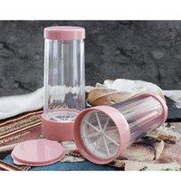 Dispenser di zucchero a glassa di plastica con coperchio Cioccolato Caffè Cacao in polvere Agitatore in acciaio inox Mesh in acciaio inox Strumenti di pasta di pasticceria