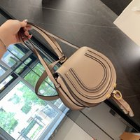 Ladies handbags designed by fashion brand in 2021, high-quality real cowhide Cloe mini Marcie One one-shoulder cross-body saddle bag