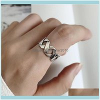 Jewelrybohemian Ethnic Sier Color Big Cross Chain Rings For Women Bridal Wedding Vintage Open Finger Christmas Gifts Drop Delivery 2021 Fu01