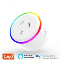Tuya Smart Plug WiFi Socket AU US UK EU Plugs Works With Alexa Google Home Mini Timer Adjustable RGB Night Light