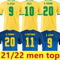 Brasilien 2021 Marcelo Pele Paqueta Neres Coutinho Fussball Jersey Firma Jesus 21 22 Fußball Hemd Mann Top S-2XL