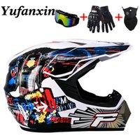 Superkühler Motorrad Off-Road-Helm ATV-Schmutz-Bike-Helm Downhill Full-Face-Helm Free 3-Geschenke-Menge Design-Kapazitäten