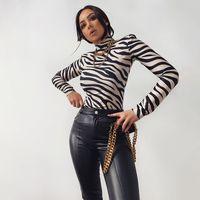 Sheyle PU Cuir Cuir Pantalon Pantalon Femme Poches Slit Jambe Skinny High Taille Zip Fly Sexy Élégant High Street Brun Trousersfree Expédition par Ai