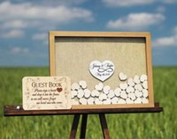 Personalize Infinity Love Horizontal Wedding Alternative Wood Guest Book Drop Box, Custom Birthday Baby Shower Sign In Other Event & Party S