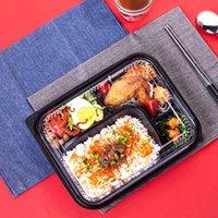 Einweg-rechteckige Fünf-Gitter-Sushi-Box-Platte geteilt Gitter-Kunststoff-Takeaway-Verpackungen nehmen Container heraus