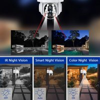 Wifi IP Camera Outdoor Local Alarm Video Surveillance Recorder PTZ 4XZOOM Dual Lens Auto Tracking CCTV Security System 2.8mm-12mm Onvif
