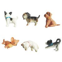 Puppets Mini Cat Dog Figurines Model Pet Doll Simulation Decoration Crafts Toy Animals Miniature Cute Ornaments PVC Action Figures for Home Office