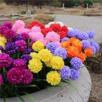 Jedwab Sztuczna Hortensja Kwiaty Cebulkowe Bridemaid Bukiet Bridal Wedding Party Decor Floral Supplies Tabela Centerpi