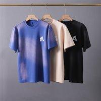 3 Цвета Tie-Dye Футболка Мужчины Женщины 1 Высококачественная Вышивка Вышивка Вышивка Вышивка Tee Tops Короткие рукава