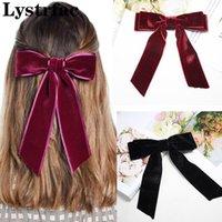 Lystrfac Velvet Bow KNOT CLIP DE PELO Cinta femenina Cinta Duckbill Hairpin Tocado de cabeza Cabeza de espalda Hairgrips Tocado Accesorios