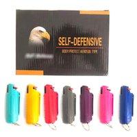 20ML أسلحة رش الدفاع الذاتي للنساء الفتيات 9 ألوان الجسم حماية الهباء الهباء الدفاع عن النفس المفاتيح