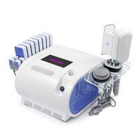 5 1 Soğutma Vakum Ultrasonik RF Kavitasyon 40K Lazer Vücut Zayıflama Makinesi