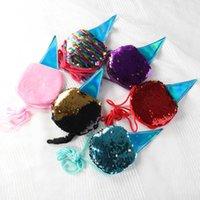 Fiesta de fiesta regalo de sirena lentejuelas en forma de helado bolsa de monedas linda mini cremallera monedero para niña navidad cumpleaños presente presente
