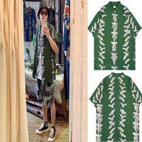 Women's Blouses & Shirts 2021 kapital shirt eagle feather impression female male clothes 1:1 high quality casual Hawaiian beach