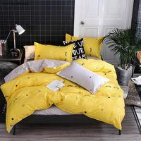 Bedding Sets Yellow Eyelash Duvet Cover Home Textiles 3 4 Piece Creative Quilt Sheet Pillowcase Kids Girls