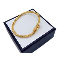 Golden Silver Zircon Diamond Diamante in acciaio in acciaio per unghie Braccialetto Braccialetto uomo e donna Designer Classic Fashion Fashion gioielli di lusso non sbiadito ipoallergenico