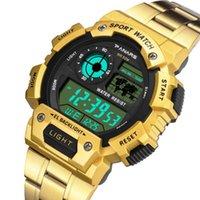 Relógios de pulso Panários relógio digital para homens aço inoxidável militar militar resistente água calendário LED relógios de esportes relogio masculino