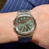 최고 품질의 고급 망 시계 최신 노틸러스 5711 5711A 5711 / 1A-0014 녹색 다이얼 CAL.324 SC 기계 자동 운동 사파이어 유리 스포츠 손목 시계
