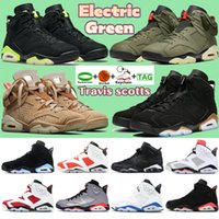 6 6s High Basketball shoes Electric Green DMP UNC carmine travis scotts british khaki reflect silver Men trainers alternate Hare sneakers with keychain
