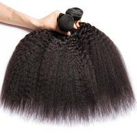 Factory Price 12a Virgin Kinky Straight Human Brazilian Hair Bundles Natural Black Color Tangle and Shedding Free