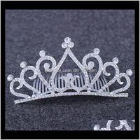 Hair Diamond Heart Headband Headdress Crystal Bride Crown Tiara Comb Wedding Birthday Pageant Party Fashion Jewelry Will And Sandy Ct1 Vxip0