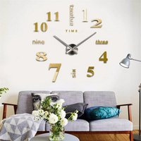 Wall Clocks 3D Clock Mirror Stickers Creative DIY Removable Art Decal Sticker Home Decor Living Room Quartz Needle