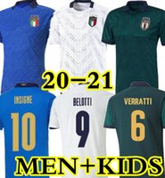 2020 2021 2021 إيطاليا لكرة القدم جيرسي الرئيسية Jorginho El Shaarawy Bonucci Insigne Bernardeschi البالغين الرجال + أطفال كيت قمصان كرة القدم