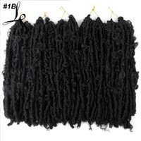 """14 """"Бабочка открывает вязание крючком для волос Butterfly Bob Faux Locs 80g / шт. Крючковые косы волосы черные грязные"""