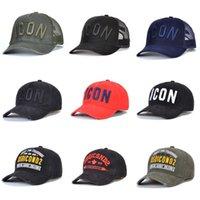 2021 بيع رجل مصمم القبعات casquette d2 فاخر التطريز كاب قابل للتعديل 23 لون قبعة وراء الرسالة