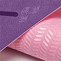 Yoga-Matten -Purple-Rosa-Großhandel umweltfreundlich komfortable rutschfeste und stoßfestes wasserdicht leicht, leicht tragbar zu reinigen