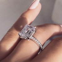 925 Sterling silver Statement Party Ring Diamond Wedding band rings for women Jewelry