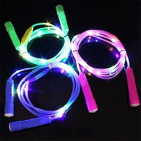 2.7m Seilspringen Gunst Jungen Mädchen Leuchtende LED Bunte Luminou Flashing Seile Fitnessgeräte Nachtmarkt Kinderspielzeug OOD6252