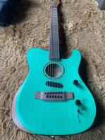 Aktif Elektrik Akustik Gitar TL Stil Hollow Vücut 39 inç Akustik Gitar Katı Üst 6 Dizeler Ile Halk Gitar Kolçak