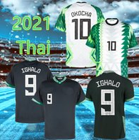 2021 Nigelia Soccer Jersey Home Away Tracksuit Okechukwu Okocha Ahmed Musa Mikel Iheanacho Camisa de Futebol Homens Uniforme