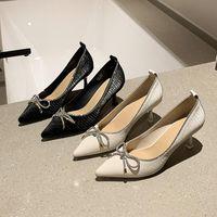 Обувь платье HKXN Дамы высокие каблуки мода Свадьба женский банкетный Bridal Bowknot 2021 женщин