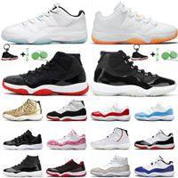 Sapatos de basquete 11s Xi Retro baixo Legenda azul Citrus 2021 Top Quality Jumpman 11 25º Aniversário Alto Criado Concord Space Jam Treinadores Sneakers 36-47