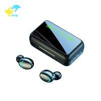 Vitog R11 TWS سماعات رأس Bluetooth V5.0 اللاسلكية سماعة مصغرة الذكية لمس سماعات الأذن مع شاشة LED قوة البنك الألعاب سماعة وميكروفون