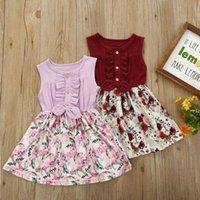 Girl's Dresses Baby Girls Princess Ruffle Flower Dress Girl Sleeveless Tutu Bow Party Sundress Kid Clothes Elegant Kids