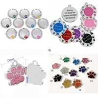 Anti-lost Puppy Dog ID Tag Personalized Dogs Cats Name Tags Collars Necklaces Engraved Pet Nameplate Accessories DHB6988