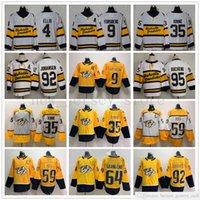 2021 Inverno Classic Nashville Predatori Jerseys Hockey 9 Filip Forsberg 35 Pekka Rinne 59 Roman Josi 4 Ryan Ellis Ryan Johansen Matt Duchene