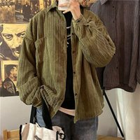 Men's Jackets Autumn And Winter Casual Corduroy Jacket Fashion Solid Color Men Loose All-match Coats 2021