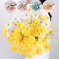Heads Yellow Holland Chrysanthemum Simulation Little Daisy Cosmos Home Pography Decoration Chamomile Silk Flower Diy Decor Decorative Flower