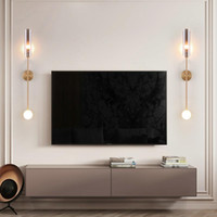 Wall Lamps FKL Nordic Bedroom Lamp Glass Creative Long Strip Living Room Background Aisle LED