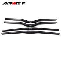 Airwolf-Kohlefaser-Mountainbike-Lenker 31,8mm 3K-Anstieg Flache Aero-Bar 580-720mm MTB-Lenker Fahrradzubehör