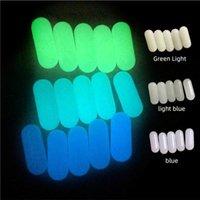 DHL Luminous Quartz Terp Pearl Pill OD 6*15mm Smoking Insert Spinning Glowing Dab Pills Capsule Glow Green Blue Light For Nail Banger Bong