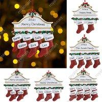 수지 개인화 스타킹 양말 2 3 4 5 6 7 8 크리스마스 트리 장식 크리 에이 티브 장식 펜던트 DHL 무료 배송